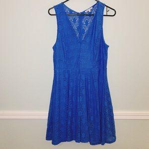 Charlotte Russe Cobalt Blue lace Dress.